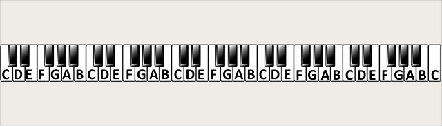 witte toetsen op de piano