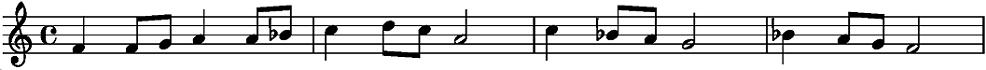 melodie in toonsoort F majeur - 2