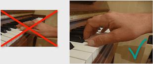 correcte handpositie