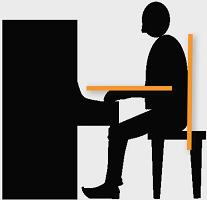 correcte lichaamshouding achter de piano