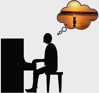ontspan tijdens het pianospelen